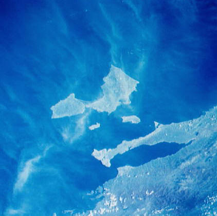 NASA space photo of Isla Margarita or Margarita Island, Venezuela